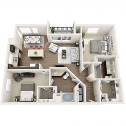 Bell Pasadena 2 bedroom floorplan