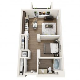Bell Pasadena 2 bedroom floor plan